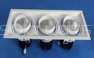 Lampa incorporabila tip grille light cu LED  3x25W